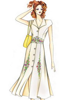 Understanding The Vintage Sewing Pattern - Sewing Method Marfy Patterns, Mccalls Sewing Patterns, Vogue Patterns, Vintage Sewing Patterns, Dress Patterns, Fashion Illustration Sketches, Fashion Sketches, Arte Fashion, Fashion Figures