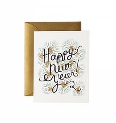 Happy New Year Available as a Single Folded Card or a Boxed Set of 8