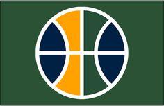 id:AB3302F5CD2AA0F89BC9A149EBBF1D652E6DBBD9 | Utah Jazz Alternate on Dark Logo (2017) - Utah Jazz Partial Ball Logo ...