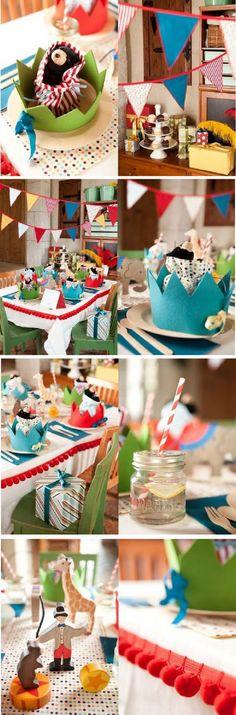 Birthday Party Ideas - circus theme