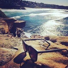 Dreamy waves rolling through at Bronte. Wooden Sunglasses, Ocean Sunglasses, Bronte Beach, Surfing, Beach Waves, Beaches, Summer, Rocks, Travel