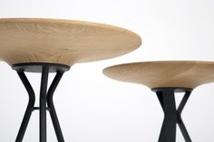 ANNI - Pecker Design Studio founded in 2011 based in Vienna, Austria. Side table that would be a sleek design for a pivoting bench