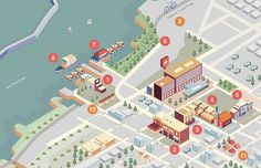 Burlington Hilton Map on Behance