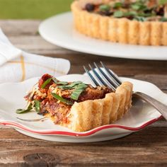 Cheesy Tomato Tart with Goat Cheese, Onions and Roasted Tomatoes