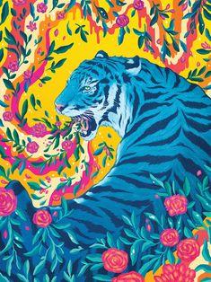 Kai Fine Art is an art website, shows painting and illustration works all over the world. Posca Art, Grey Art, Psychedelic Art, Aesthetic Art, Cat Art, Art Inspo, Art Drawings, Art Photography, Street Art