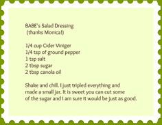 Chicken Salad Dressing, Salad Dressing Recipes, Salad Dressings, Fried Chicken Salads, Chicken Salad Recipes, Babes Chicken Recipe, Kneading Dough, House Salad, Copykat Recipes