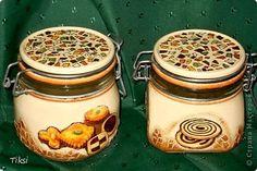 Декор предметов Декупаж Баночки бутылочки   фото 5