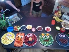 Damien's 4th and Easton's 2nd birthday snacks