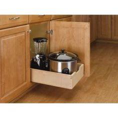 Rev-A-Shelf 6 in. H x 14 in. W x 23 in. D Medium Pull-Out Wood Drawer Base Cabinet 4WDB-15 at The Home Depot - Mobile