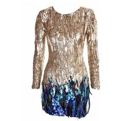 Liquid Sequin Dress ($1,598) found on Polyvore