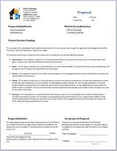 Painting Proposal Template. painting estimate sample reference ...