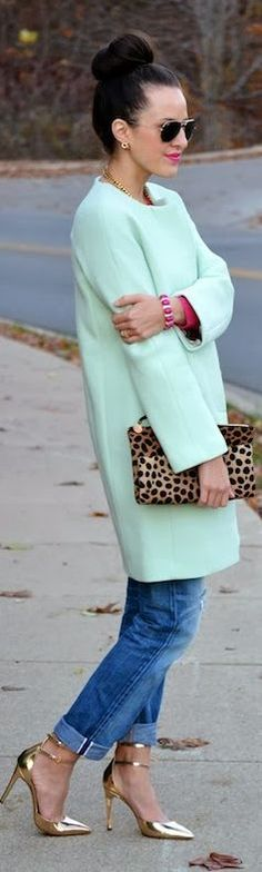 May be the mint. Might be the leopard. Could be the gold. Love the look ...