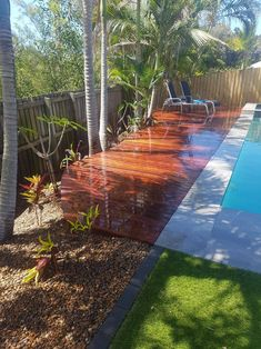 Call expression landscaping today and see how we can turn your backyard into your own personal paradise. Gold Coast, Landscaping, Past, Sidewalk, Backyard, Canning, Decking, Outdoor Decor, Paradise