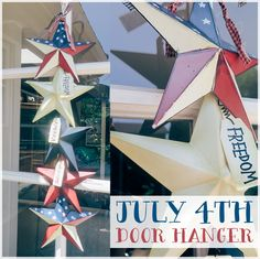 Get festive for the fourth with this easy July 4th Door Hanger! #MakeItMonday