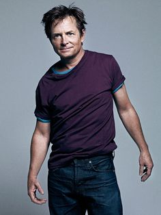 """Michael J Fox by Bryan Adams. """"Everybody in the world knew I was before I knew who I was."""" . . . """"I love the irony. I'm perceived as being really young and yet I have the clinical condition of an old man."""""""