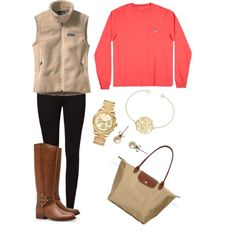 A fashion look from March 2013 featuring patagonia vest, legging pants and leather riding boots. Browse and shop related looks.