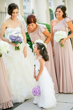 Taupe Bridesmaids | photography by http://www.kristynhogan.com