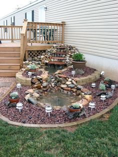 15 Pleasing and Attractive DIY Backyard Ideas to Remodel Your Backyard and Keep It 'Party Ready' Always There are whole lot of ways to adorn and deck up your backyard. Check out some of the most interesting DIY Backyard ideas right here. Ponds Backyard, Backyard Landscaping, Landscaping Ideas, Backyard Ideas, Garden Ponds, Pond Ideas, Patio Ideas, Mobile Home Landscaping, Outdoor Fish Ponds