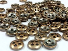30 Pcs Very Small Antique Look Metal Buttons  Shirt by indiabutton