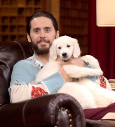 Jared Leto Chooses Puppies Over Parties