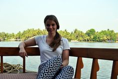 Franzi von Coconut Sport in den Kerala Backwaters