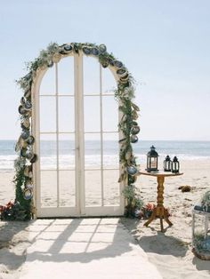 Beautiful shell arch for your beach ceremony......stunning !