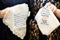 Gifts for mother of the bride and mother of the groom. Engraved wedding handkerchief!