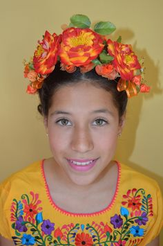 Frida Kahlo Floral Headband Day of the dead flowers floral crown headpiece wedding dia de los muertos cinco de mayo mexican party summer by Miamorcitocorazon on Etsy