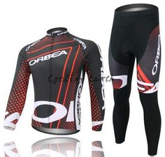 3D Silicone! Orbea 2014 #2 red long sleeve cycling jersey pants bicycle bike riding cycling autumn wear clothes set+gel pad #Affiliate