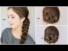 Pull Through Braid & Updo Hair Tutorial | Courtney Lundquist - YouTube