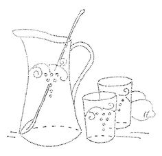 Summer beverage embroidery pattern - Design 061 S d by mmaammbr, via Flickr