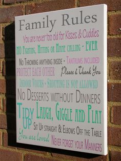 family rules canvas | Family Rules Canvas