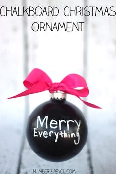 DIY Chalkboard Christmas Ornament - these make such cute and inexpensive gifts!