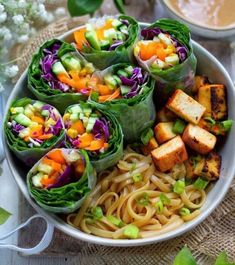 Our #glutenfree Organic Pad Thai Rice Noodles go so well with these beautiful rainbow veggie rice paper rolls and sriracha baked tofu by @plantifullybased #padthai #noodles Pad Thai Rice Noodles, Veggie Rolls, Ramen Noodle Bowl, Rice Paper Rolls, Gluten Free Noodles, Clean Eating, Healthy Eating, Healthy Food, Vegetable Rice
