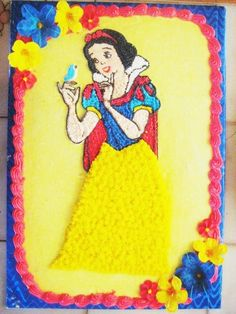 Snow White 1/2 sheet cake