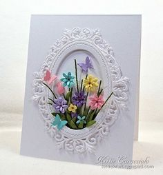 Bouquet Tutorial My project was made using Impression Obsession Bouquet set, Ornate Oval Frame and Butterfly set. Place flowers face down on the molding pad and form using the smaller end of the stylus. Turn the flower over and push in at...
