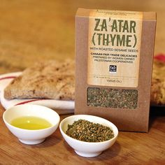 Za'atar Thyme blend from Canaan Fair Trade with olive oil and bread to ...