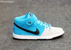 NIKE SB DUNK MID PRO BLUE/GREY #sneaker