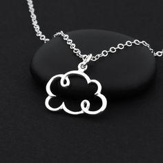 Collar joyería de nube plata nube encanto collar por BijouBright