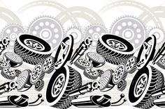 Car Parts Seamless Pattern - GraphicRiver Item for Sale