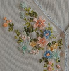 ribon embroidery | Hand-made presents, holiday gifts, ribbon embroidery kits, silk ribbon ...
