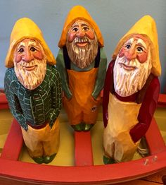 Elizabeth Brown original design NS fishermen. Hand carved and painted in Liverpool, NS.