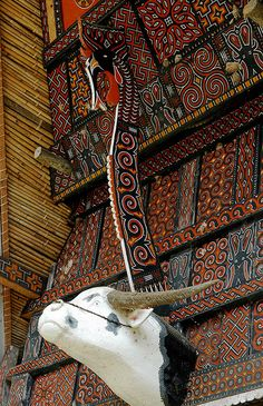 TONGKONAN Decoration by the Torajan people of Sulawesi Island, Indonesia