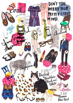 All about my drawings Art And Illustration, Illustrations And Posters, Colorful Drawings, Cool Drawings, Newborn Schedule, Pix Art, Paris Images, Fashion Wall Art, Sketch Inspiration