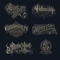 Traditional lettering logos Type Gang is part of Letter logo - Traditional lettering logos by victorkevruh⠀ lettering inspiration Typography Drawing, Typography Layout, Typography Letters, Lettering Design, Typography Poster, Vintage Logo, Vintage Typography, Vintage Fonts, Vintage Design