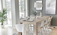 Find Out Modern Dining Room Interior Design Ideas life to your home with this beautiful dining room interior design ideas.Modern Dining Room Interior Design, Find Brilliant Ideas Here! You can find out Amazing Home design for your Home. Room Interior, Home Interior Design, Gray Interior, Simple Interior, Interior Photo, Modern Interior, Modern Decor, Light Grey Walls, Dining Room Inspiration