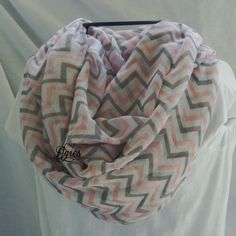 Pastel Pink Grey and White Chevron Stripes  Fashion by elgies