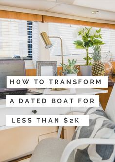 Diy Remodeling Ideas Old Houses Houseboat Decor, Houseboat Living, Houseboat Ideas, Sailboat Living, Living On A Boat, Diy Interior, Interior Design, Carver Boats, Sailboat Interior