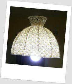 Telas, Cajas y Tinajas: pantalla de lámpara de ganchillo