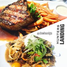 Great patio, and #dinner @hunterslanding last night. The steak and fries hit the spot, but the lamb pasta was #delicious. #Toronto #food #nonnom #foodporn #foodie #picoftheday #gastropost #starvingtime